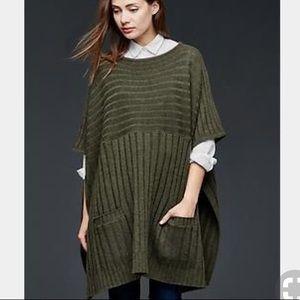 Gap sweater poncho ruana wrap sweater